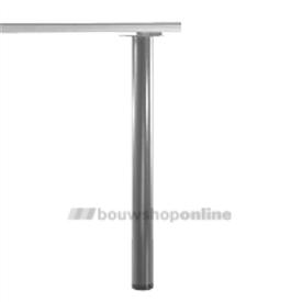 Manart tafelpoot 60 mm x 110 cm verstelbaar RVS-Look