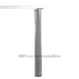 Manart tafelpoot 80 mm x 71 cm verstelbaar RVS-Look