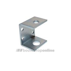 Berma montagehoek 40 mm hoog 30 mm diep voor stelvoet M10