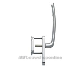 Hoppe greep enkel met kom aluminium met cilindergat hs571/431N/422