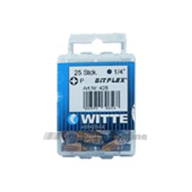 Witte bitsen Bitflex [25x] pozidriv 2 25 mm 14 inch 428046
