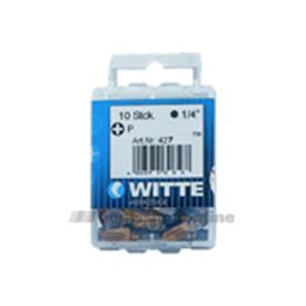 Witte bitsen tin [10x] pozidriv 2 25 mm 14 inch 427346