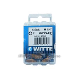 Witte bitsen 5x Bitflex tin pozidriv 2 25 mm 14 inch 428446