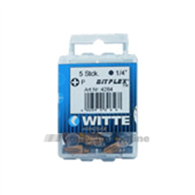 Witte bitsen 5x Bitflex tin pozidriv 3 25 mm 14 inch 428447