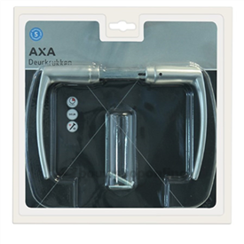 AXA 6154-10-91/B deurkrukken blokmodel aluminium F-1