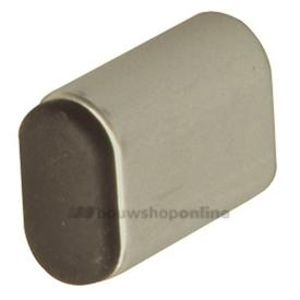 Hermeta deurbuffer ovaal aluminium 50 mm wandmodel 4702-02