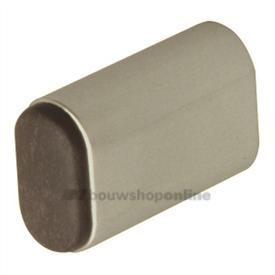 Hermeta deurbuffer ovaal aluminium 60 mm wandmodel 4704-02