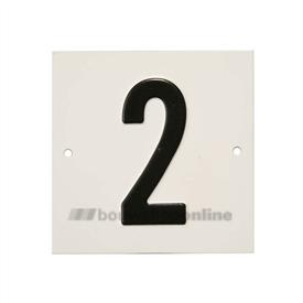 Besbo Huisnummerplaat 2