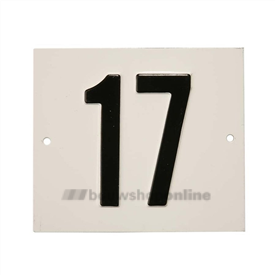 Besbo Huisnummerplaat 17