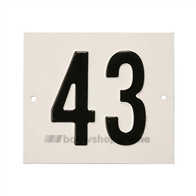 Besbo Huisnummerplaat 43