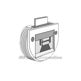 Trola rollerrail inboorgeleider diameter 35 mm 1308 wit