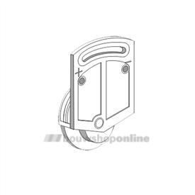 Trola rollerrail inboorroller verstelbaar 1309 wit