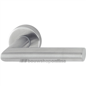 Hoppe e1400z/42kv/42kvs deurkruk op rozet zonder sleutelgat RVS