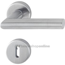Hoppe e1400z/42kv/42kvs deurkruk op rozet met sleutelgat RVS