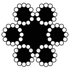 Pashook staaldraadtouw 8 mm (50m) 6x12+7 SK612 08050