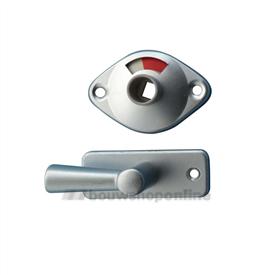 Nemef toiletslotgarnituur aluminium 8 mm 2661-4
