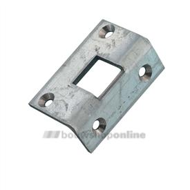 Nemef hoeksluitplaat voor espagnolet 13x13mm (13v-13vp)