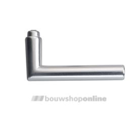 Hoppe 1400 deurkrukken L-rond haaks aluminium F-1