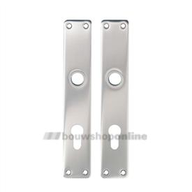 Hoppe langschilden aluminium rechthoekig cilindergat 55 mm 202-pz F-1