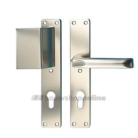 Hoppe voordeurgarnituur f2 draairichting 2-3 met cilindergat 72mm 504 202 113