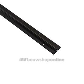 Ziehl schuifdeurrail staal 2000 x 20 mm 1425 bruin