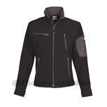 HaVeP Titan Softshell 40054 zwart/charcoal grey L