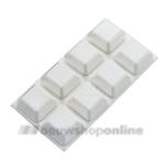 Stootbuffers wit 16 stuks zelfklevend 20 x 20 mm