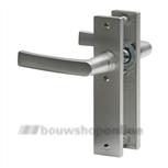 Nemef deurk 3251 B rechthoekig deurbeslag zonder sleutelgat F1