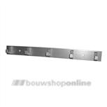 Hermeta handdoekrek aluminium F1 5haaks 0655-01