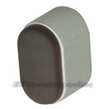 Hermeta deurbuffer aluminium F1/rubber ovaal 25 mm 4700-01
