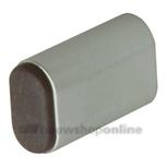 Hermeta deurbuffer aluminium F1/rubber ovaal 60 mm 4704-01
