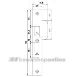 sluitplaat verzinkt Nemef p4109/17 ls rechthoekig