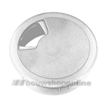 Berma kabeldoorvoer kunststof 60 mm aluminiumkleur