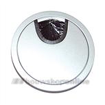 Berma kabeldoorvoer Zamac 80 mm silver