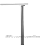 Manart tafelpoot 60 mm x 71 cm verstelbaar RVS-Look