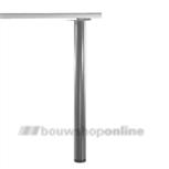 Manart tafelpoot 60 mm x 87 cm verstelbaar RVS-Look