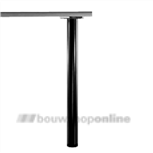 Manart tafelpoot 60 mm x 71 cm verstelbaar zwart