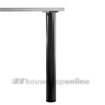 Manart tafelpoot 80 mm x 71 cm verstelbaar zwart