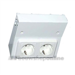 Berma TL-keukenverlichting onderbouw stopcontact dubbel