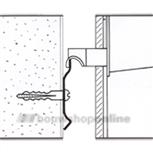 Berma ophangrail wandprofiel 2 m voor kastophanging