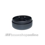 Berma meubelglijder kunststof zwart diameter 80 mm hoog 20 mm