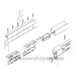 hawa schuifdeur onderdelen junior 120b 14936 zonder rail