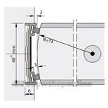 Alprokon stijlprofiel brandwerend 2400 mm voor 40 mm deurdikte Ferno Tec 302