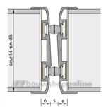 Alprokon aanslagwisselprofiel brandwerend 2400 mm voor 54 mm deurdikte Ferno Tec 416