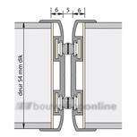 Alprokon pendelprofiel brandwerend 2400 mm voor 54 mm deurdikte Ferno Tec 411