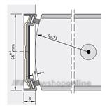 Alprokon stijlprofiel brandwerend 2400 mm voor 54 mm deurdikte Ferno Tec 402