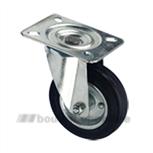 Zwenkwiel rubberstaal 160 mm 202162126000