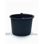 Berdal emmer 12 liter kunststof zwart
