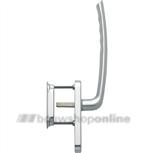 Hoppe greep enkel met kom aluminium zonder cilindergat hs571/431N/422
