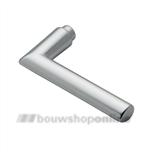 HOPPE 1140 gatdeel deurkruk 2543017 Stockholm aluminium F-1